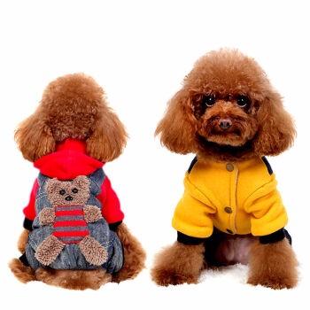【支持货到付款 免邮】狗狗衣服小狗博美比熊贵宾泰迪犬四脚衣服 宠物用品秋冬装服饰